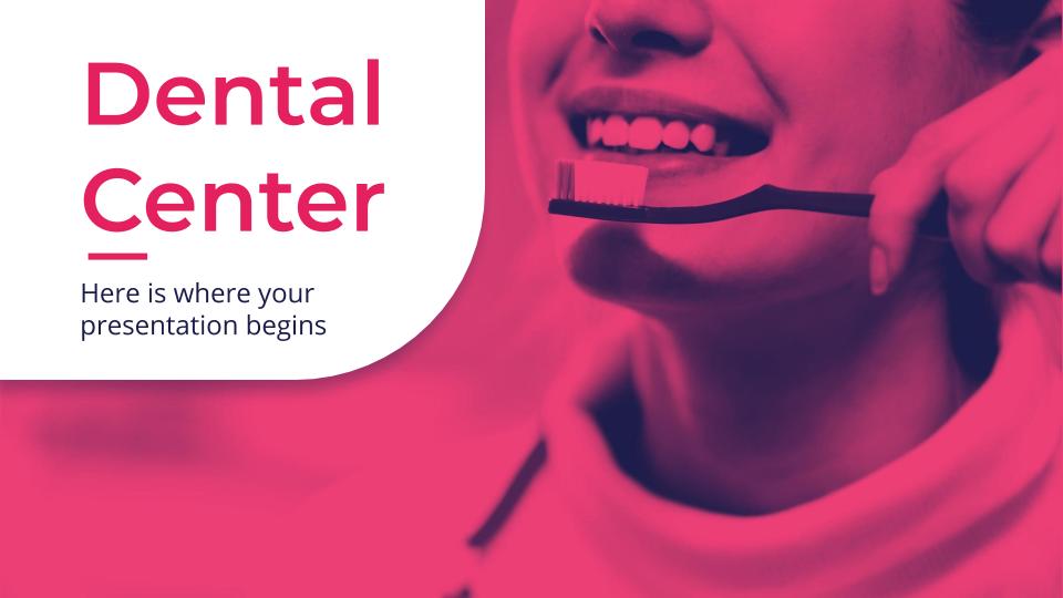 Plantilla de presentación Diapositivas para dentistas