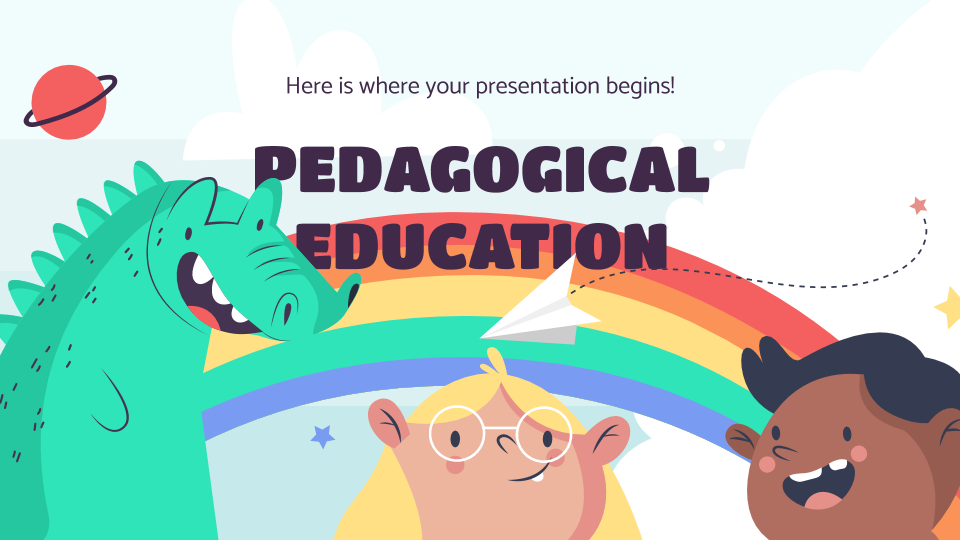 Plantilla de presentación Centro de pedagogía