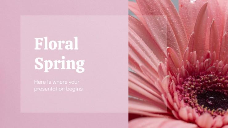 Plantilla de presentación Primavera floral