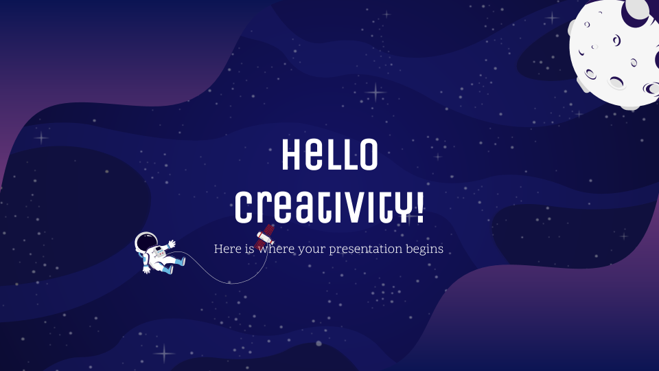 Galaxy Gradient - Free Presentation Template for Google