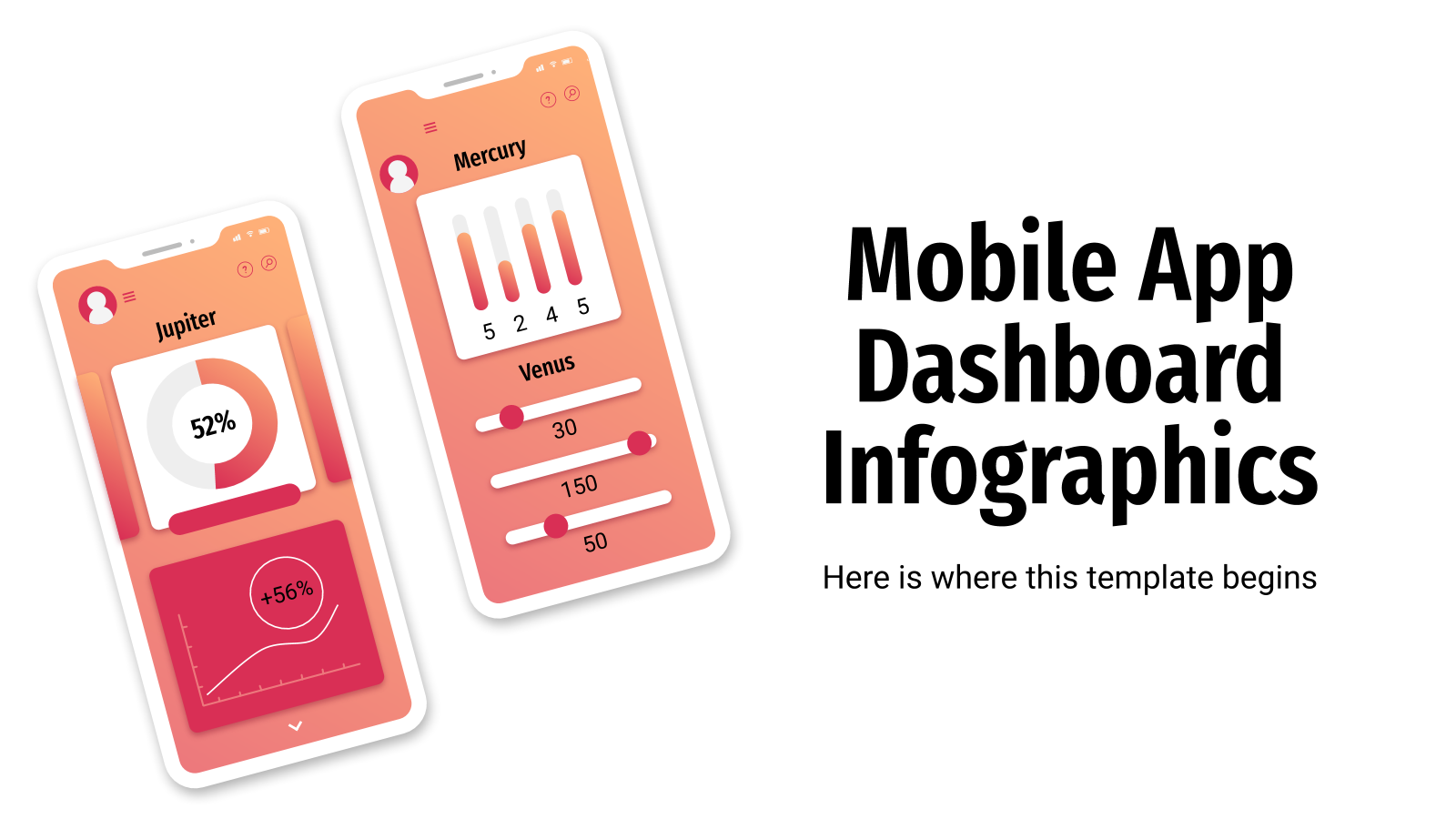 Mobile App Dashboard Infographics presentation template