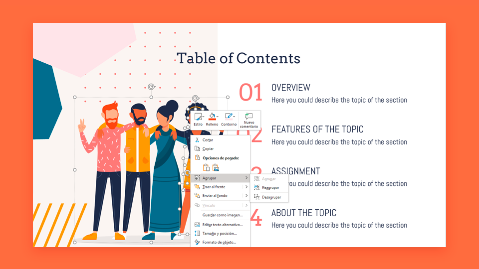 Cómo agrupar, desagrupar o reagrupar elementos en PowerPoint | Tutoriales y Tips para tus presentaciones