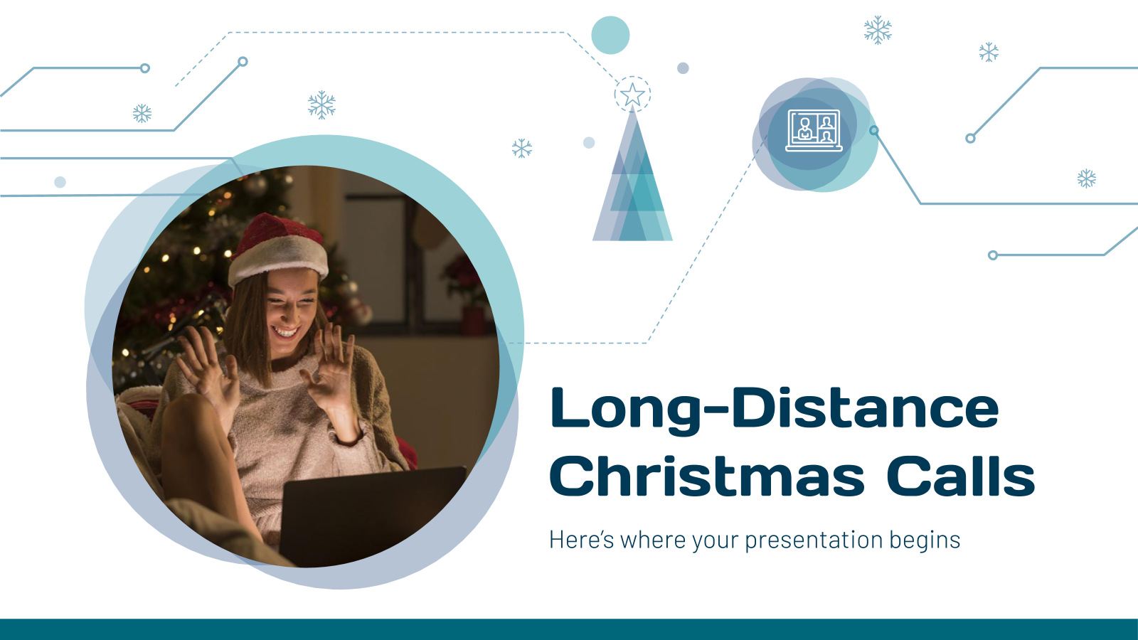 Long-Distance Christmas Calls presentation template