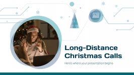 Plantilla de presentación Videollamadas navideñas