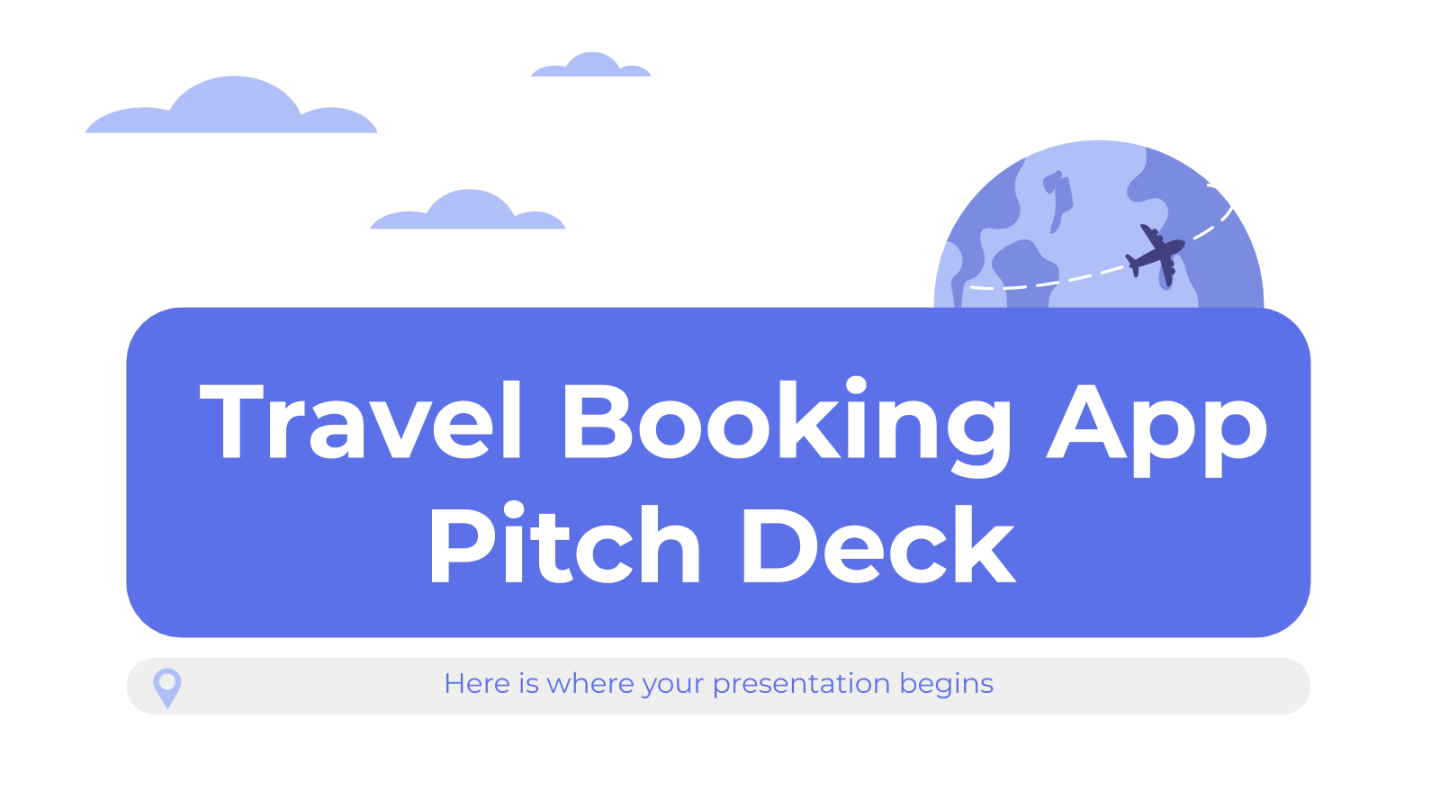 Travel Booking App Pitch Deck presentation template