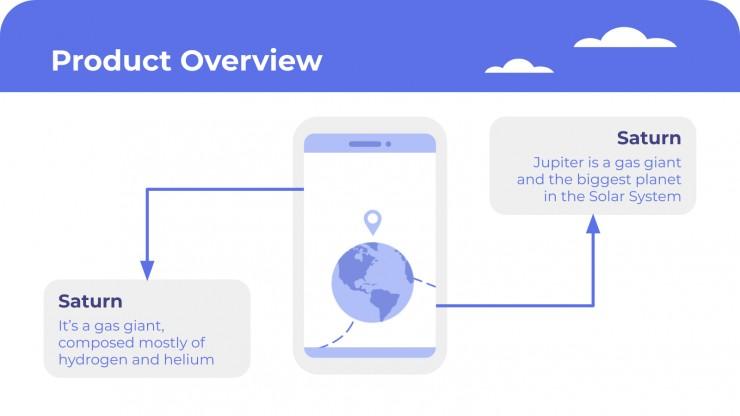 Plantilla de presentación Pitch deck para app de viajes