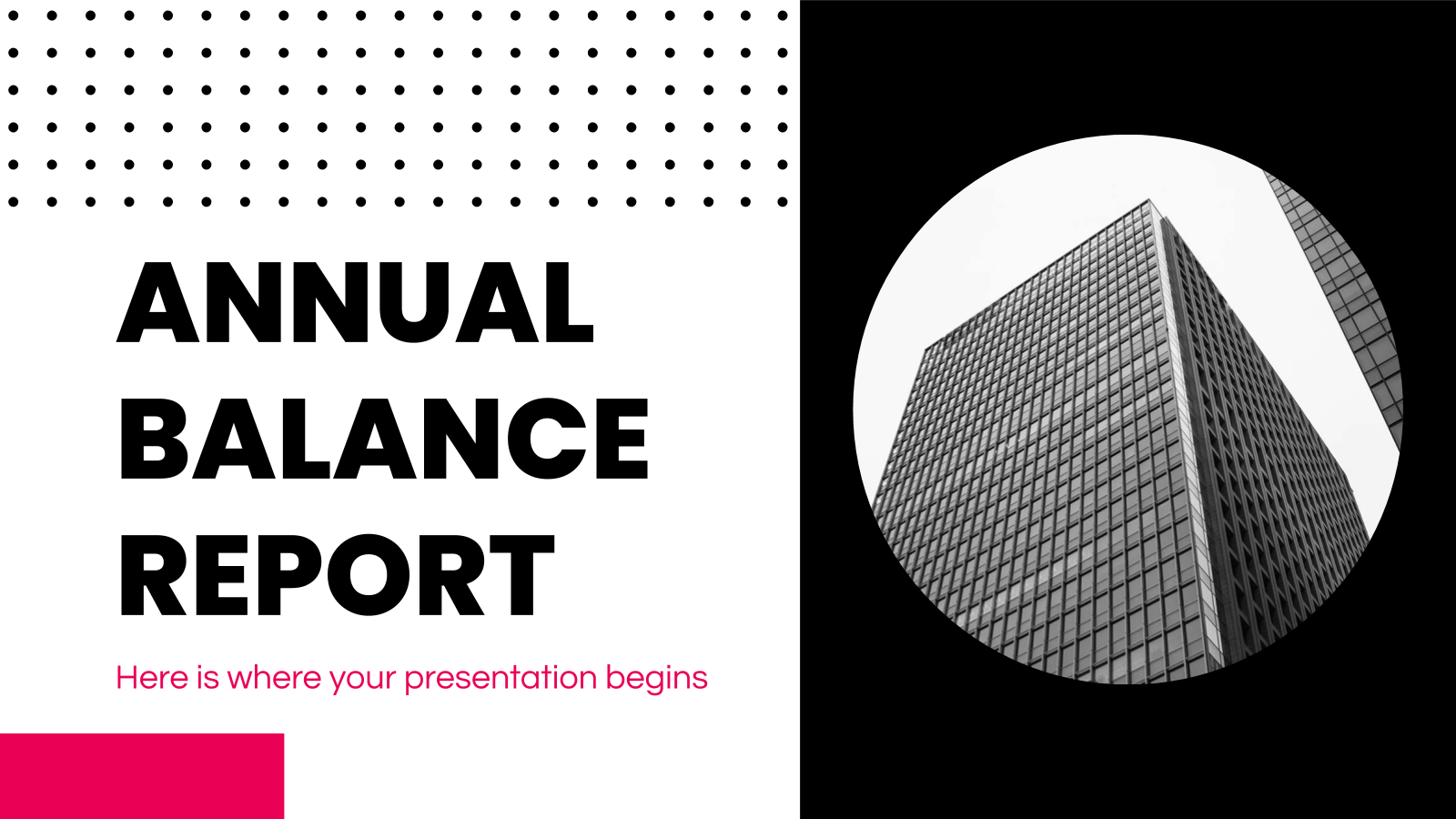 Annual Balance Report presentation template