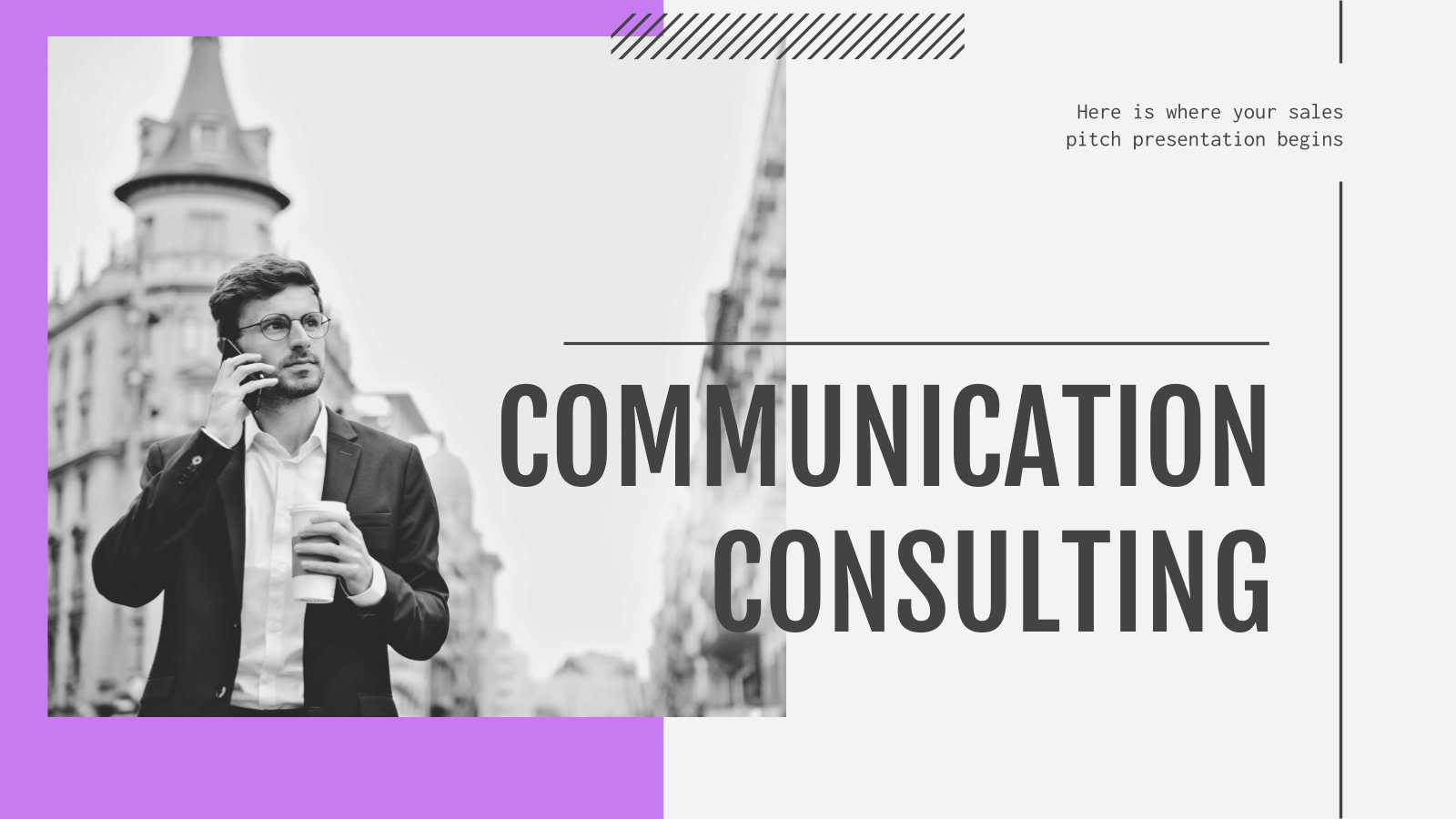 Communication Consulting presentation template