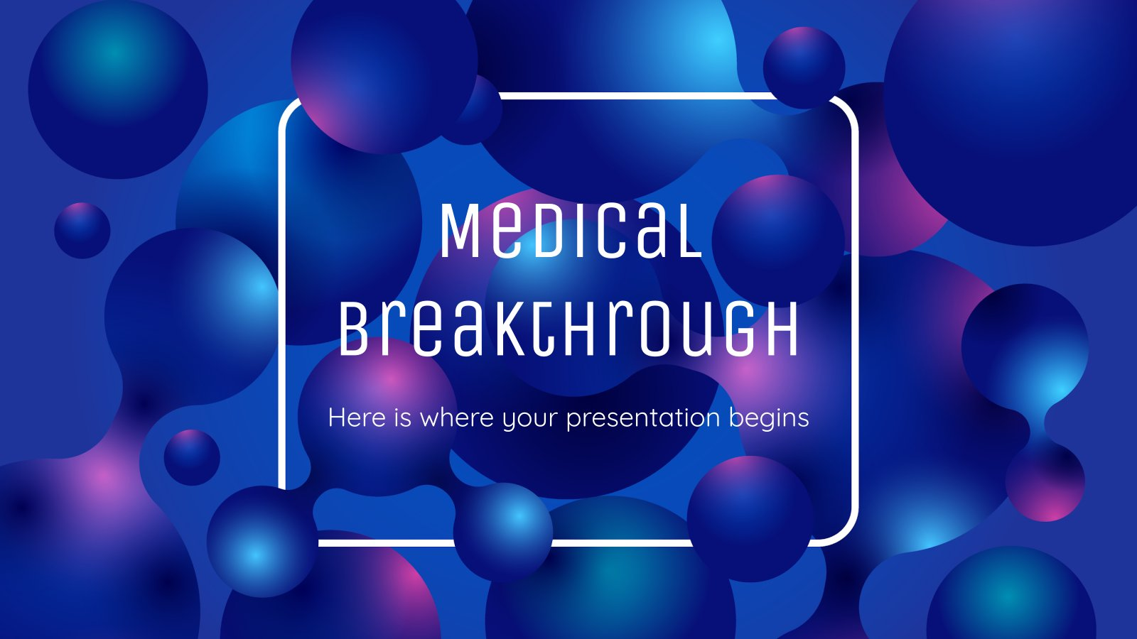 Medical Breakthrough Background presentation template