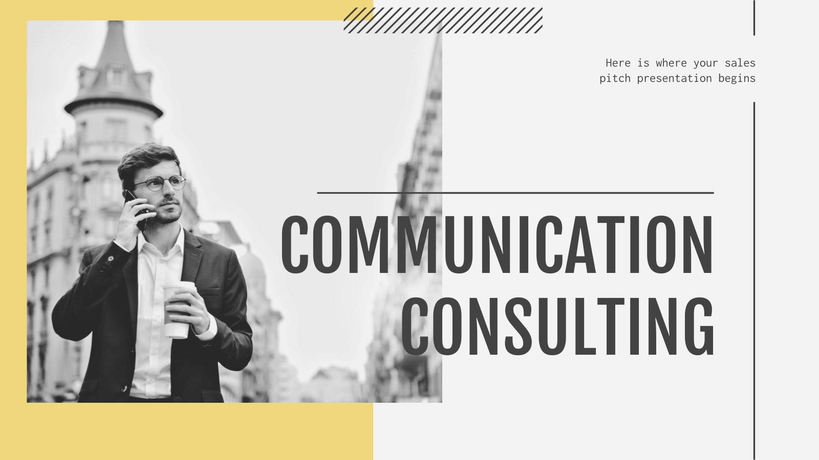 Kommunikationsberatung Präsentationsvorlage