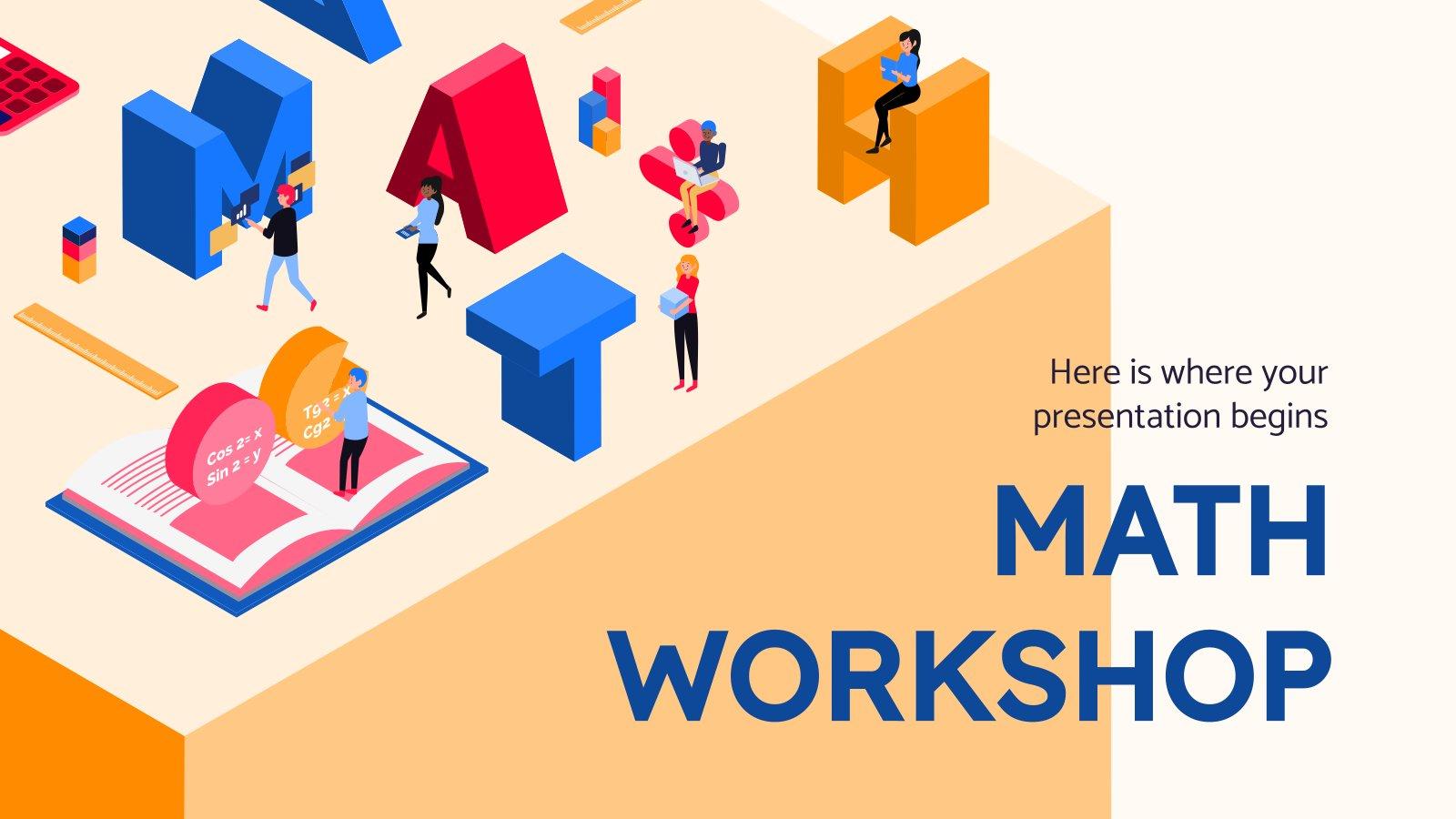 Atelier de mathématiques : Modèles de présentation