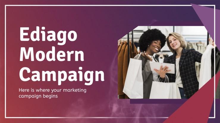 Plantilla de presentación Campaña moderna Ediago