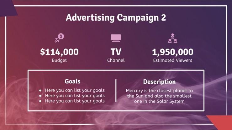 Modelo de apresentação Campanha Ediago moderna