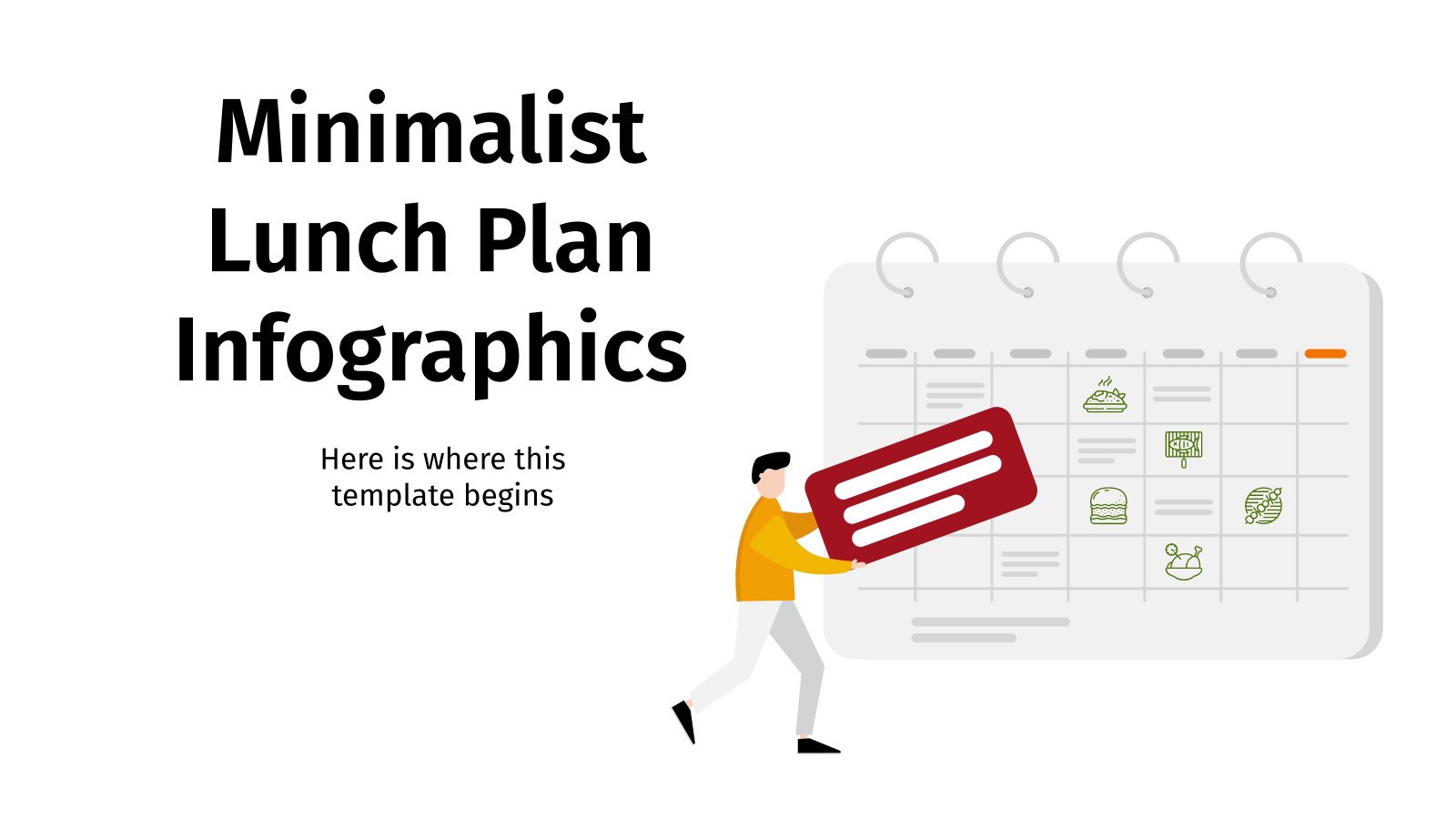 Minimalist Lunch Plan Infographics presentation template