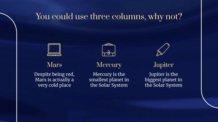 Blue Monday presentation template