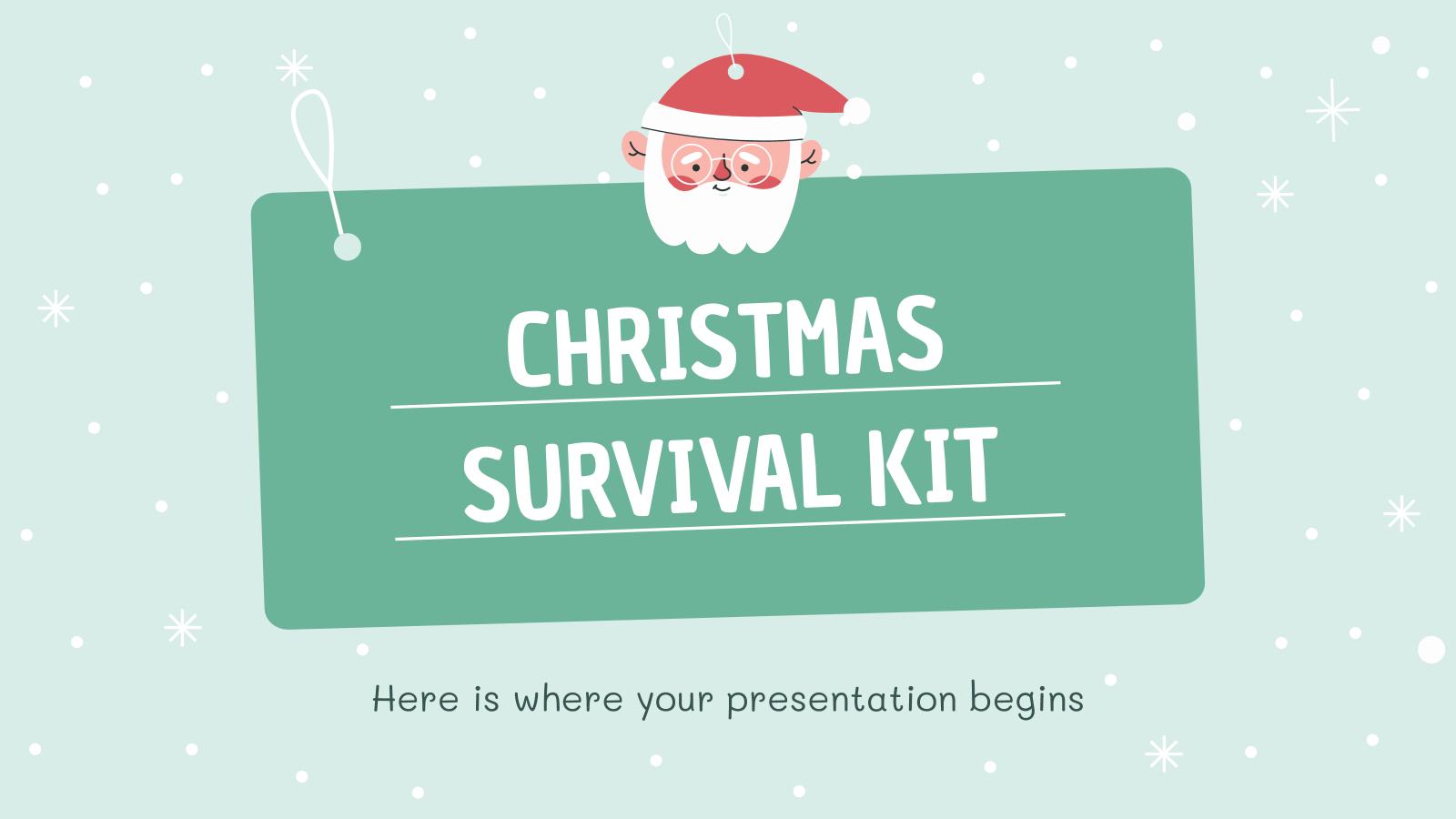 Modelo de apresentação Kit de sobrevivência no Natal