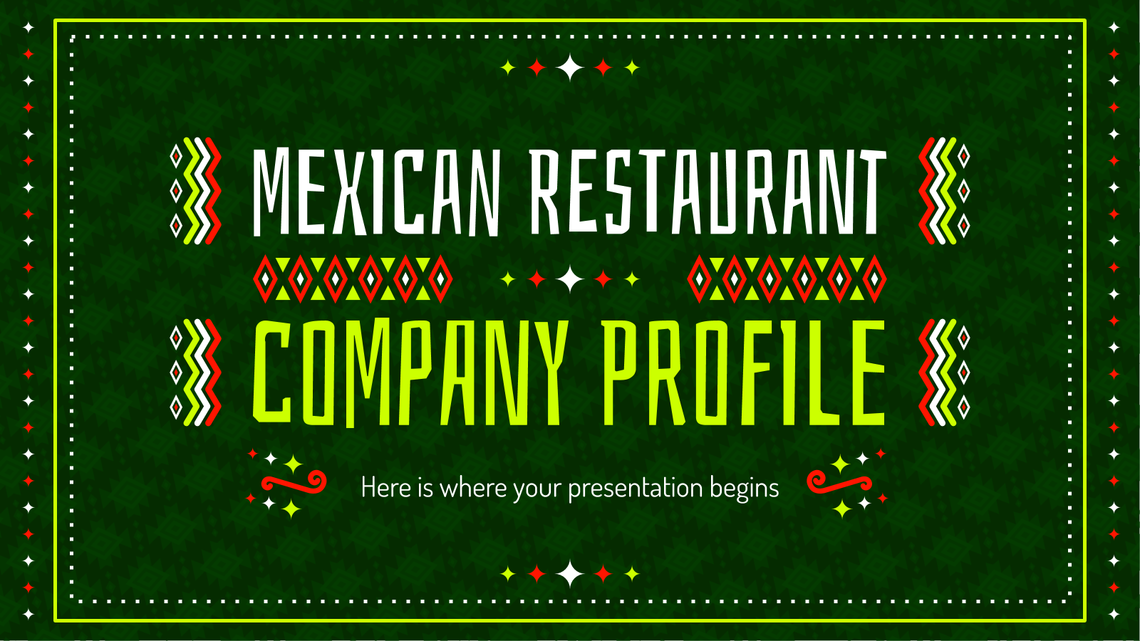 Mexican Restaurant Company Profile presentation template