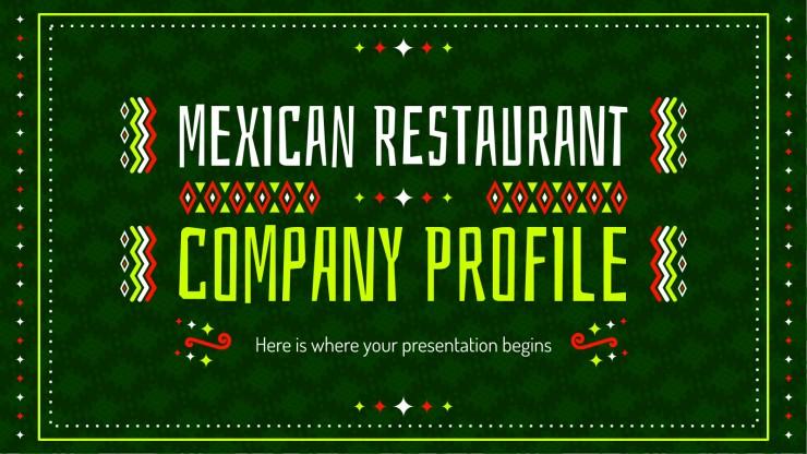 Plantilla de presentación Perfil corporativo para restaurante mexicano