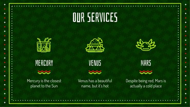 Profil de restaurant mexicain : Modèles de présentation