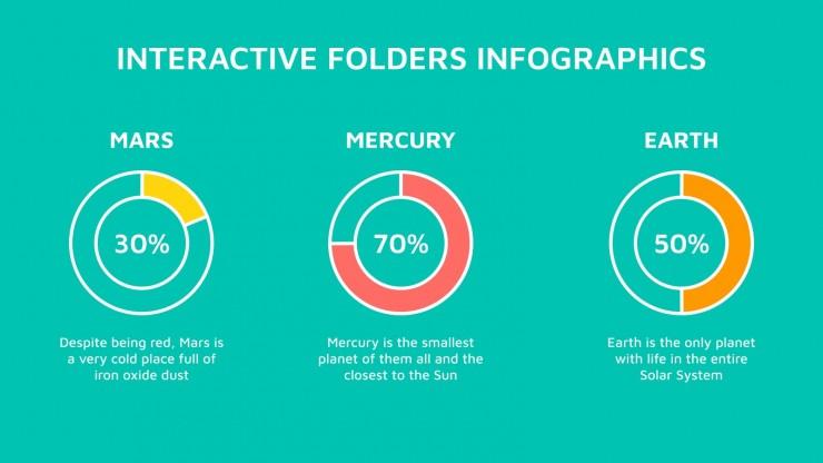 Plantilla de presentación Infografías de carpetas interactivas