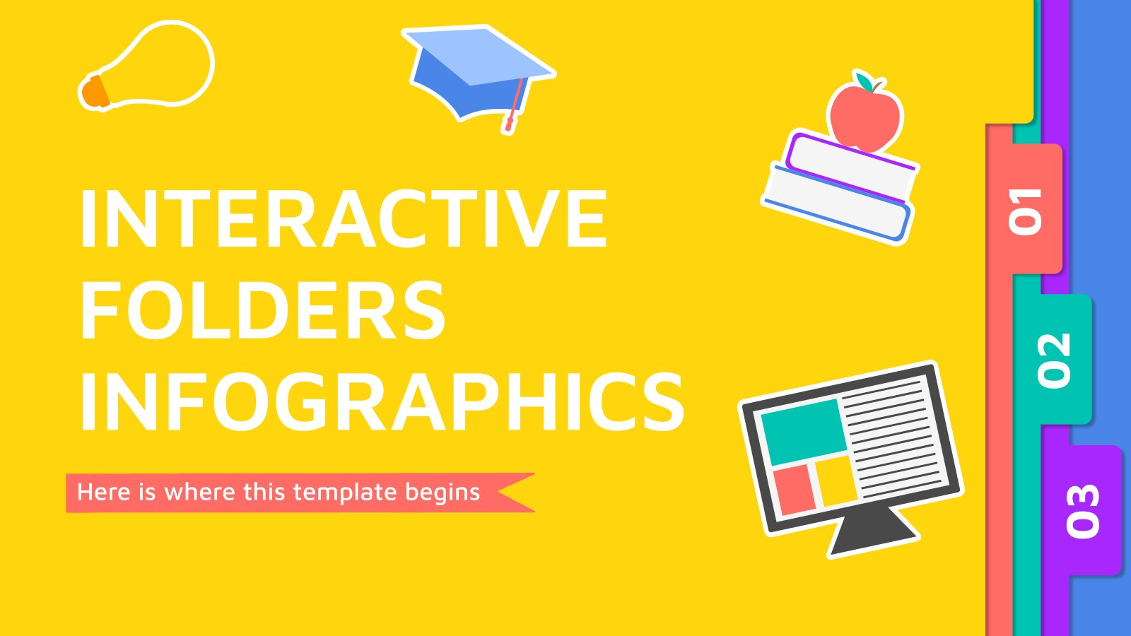 Interactive Folders Infographics presentation template