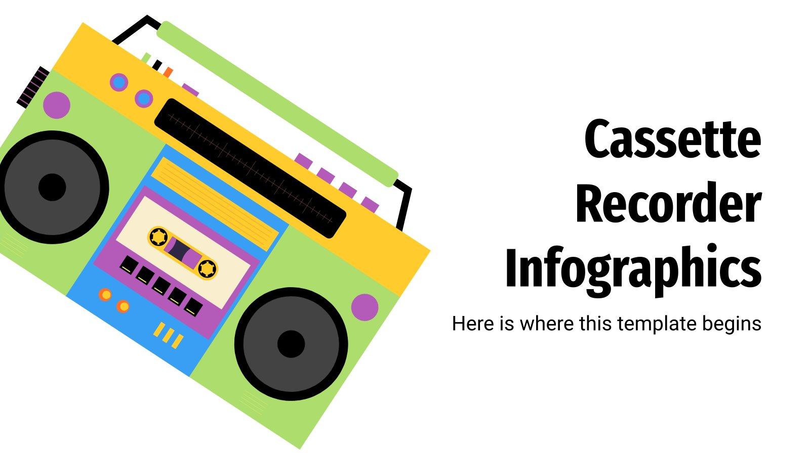 Plantilla de presentación Infografías con casetes