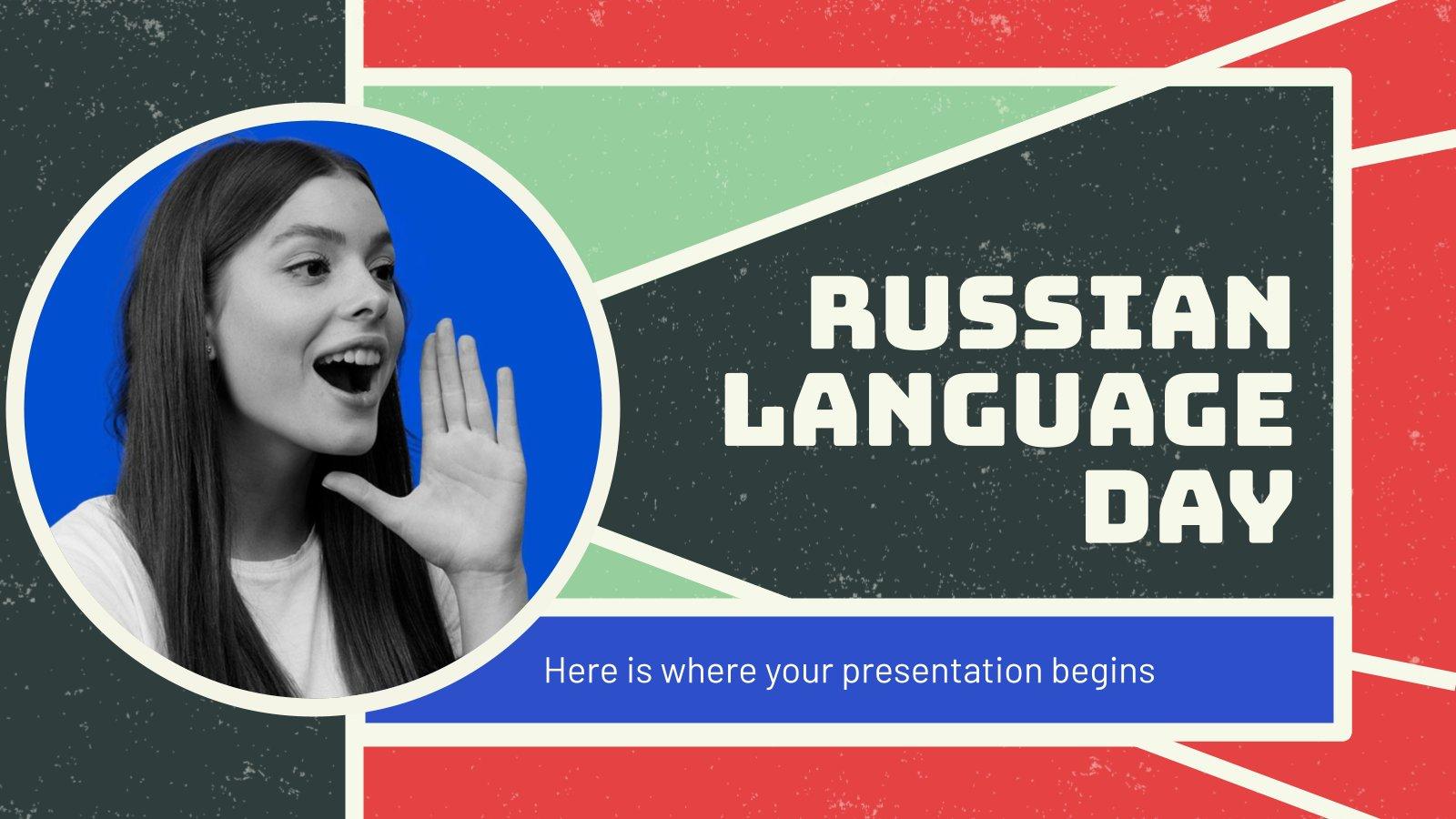 Plantilla de presentación Día del Idioma Ruso