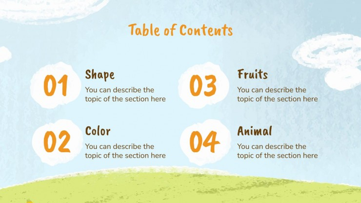 Question of the Day for Preschool presentation template