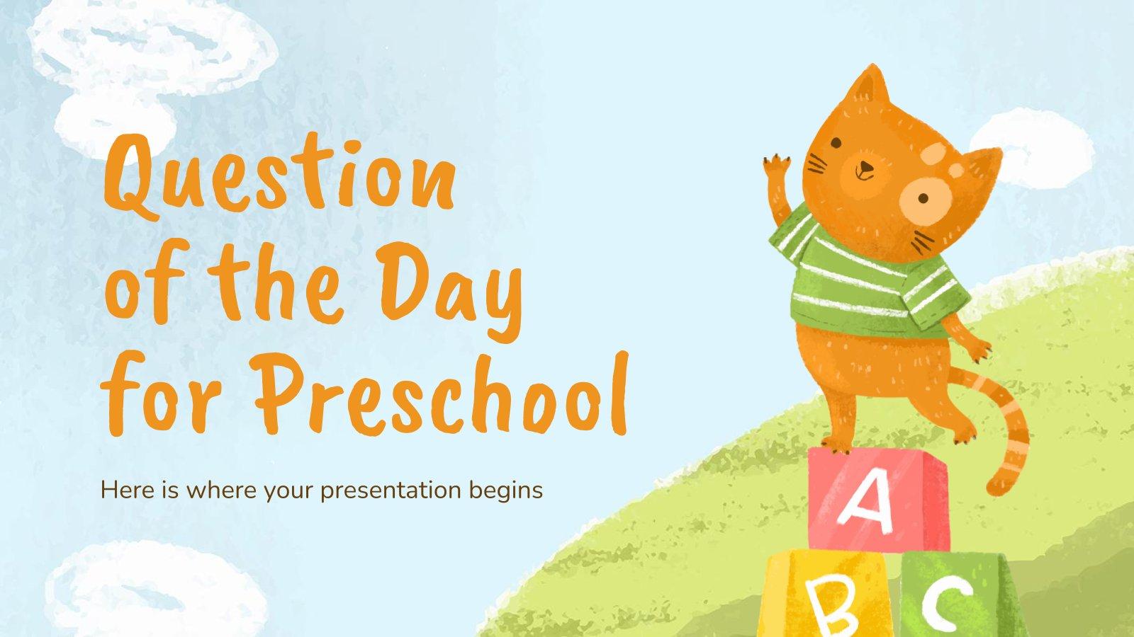Modelo de apresentação Questão do dia para a pré-escola