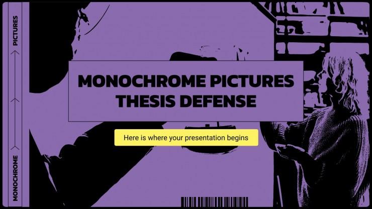 Monochrome Pictures Thesis Defense presentation template