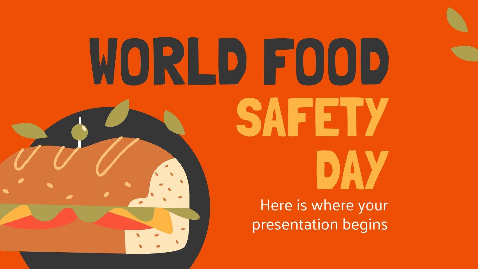 Modelo de apresentação Dia Mundial da Segurança Alimentar