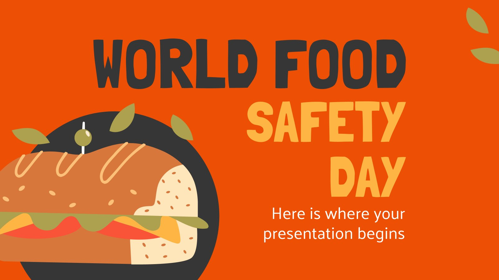 World Food Safety Day presentation template