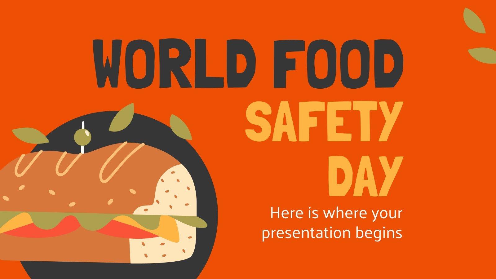 Plantilla de presentación Día Mundial de la Seguridad Alimentaria