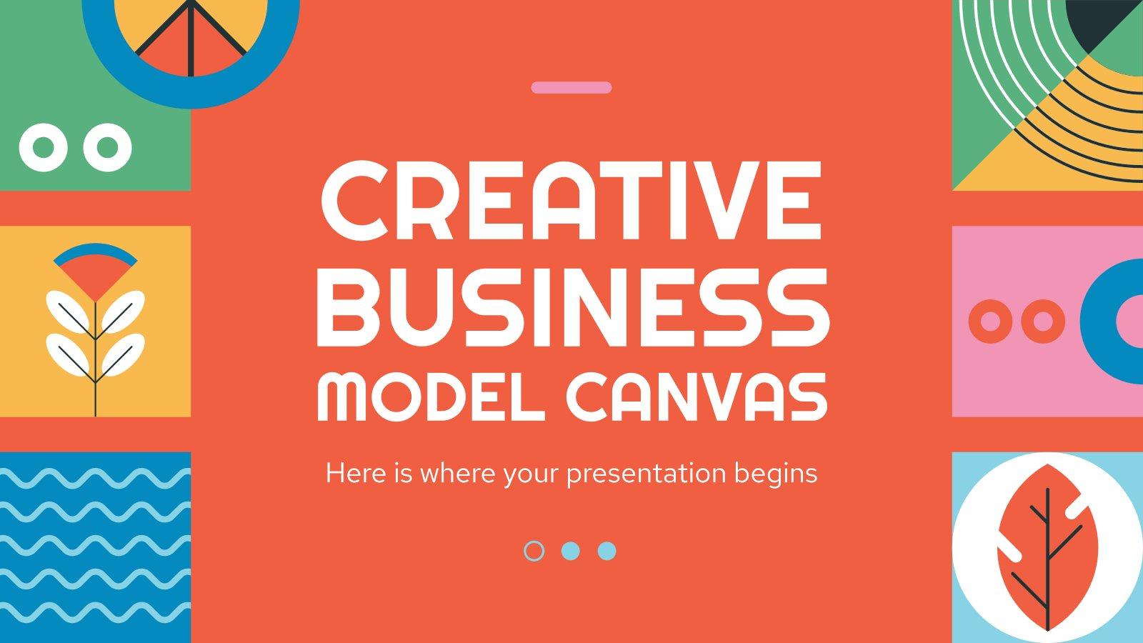 Modelo de apresentação Modelo de negócios criativo