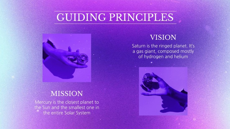 Sara's Virtual Party Social Media presentation template