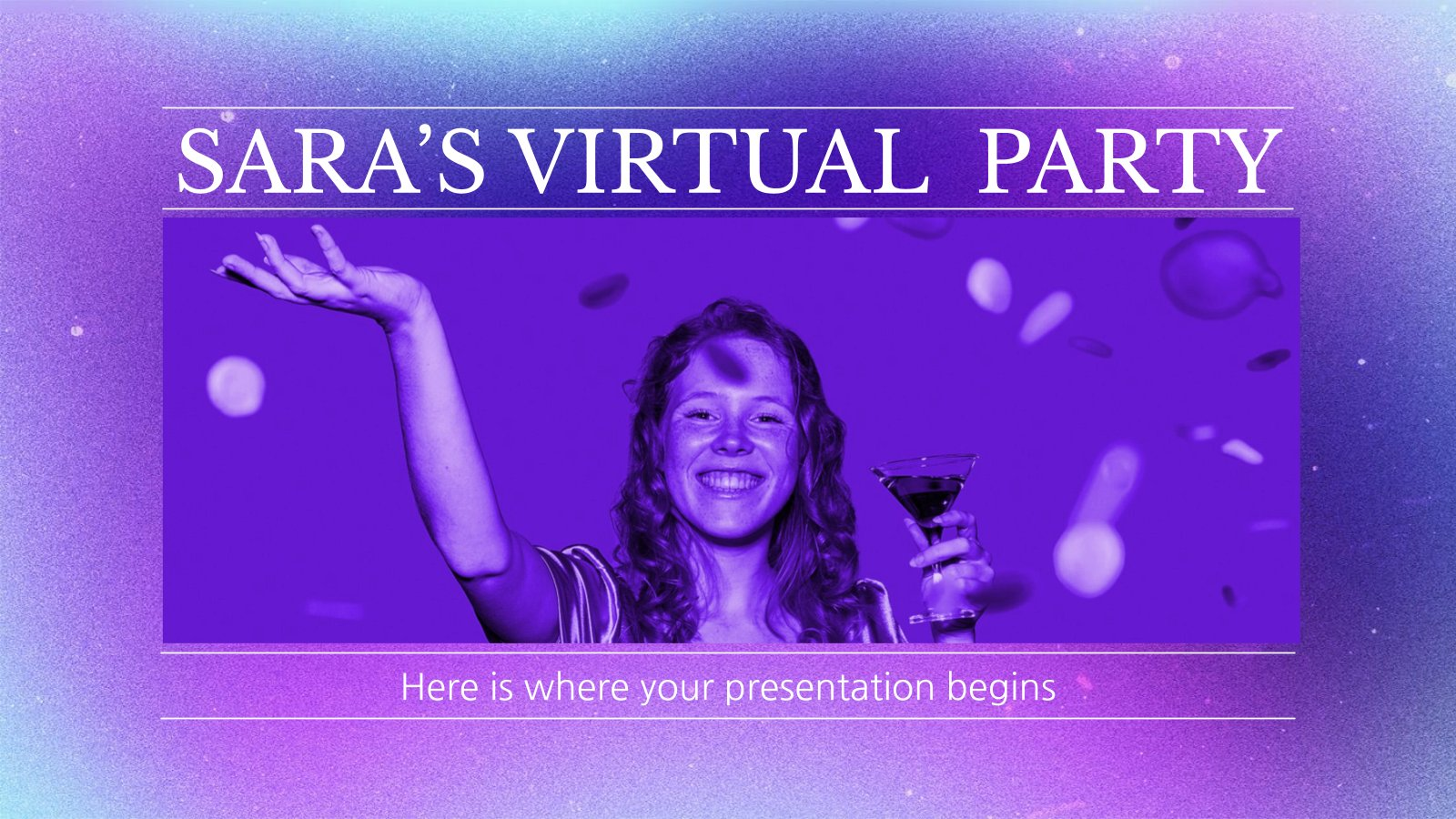 Sara's Virtual Party Social Media presentation template