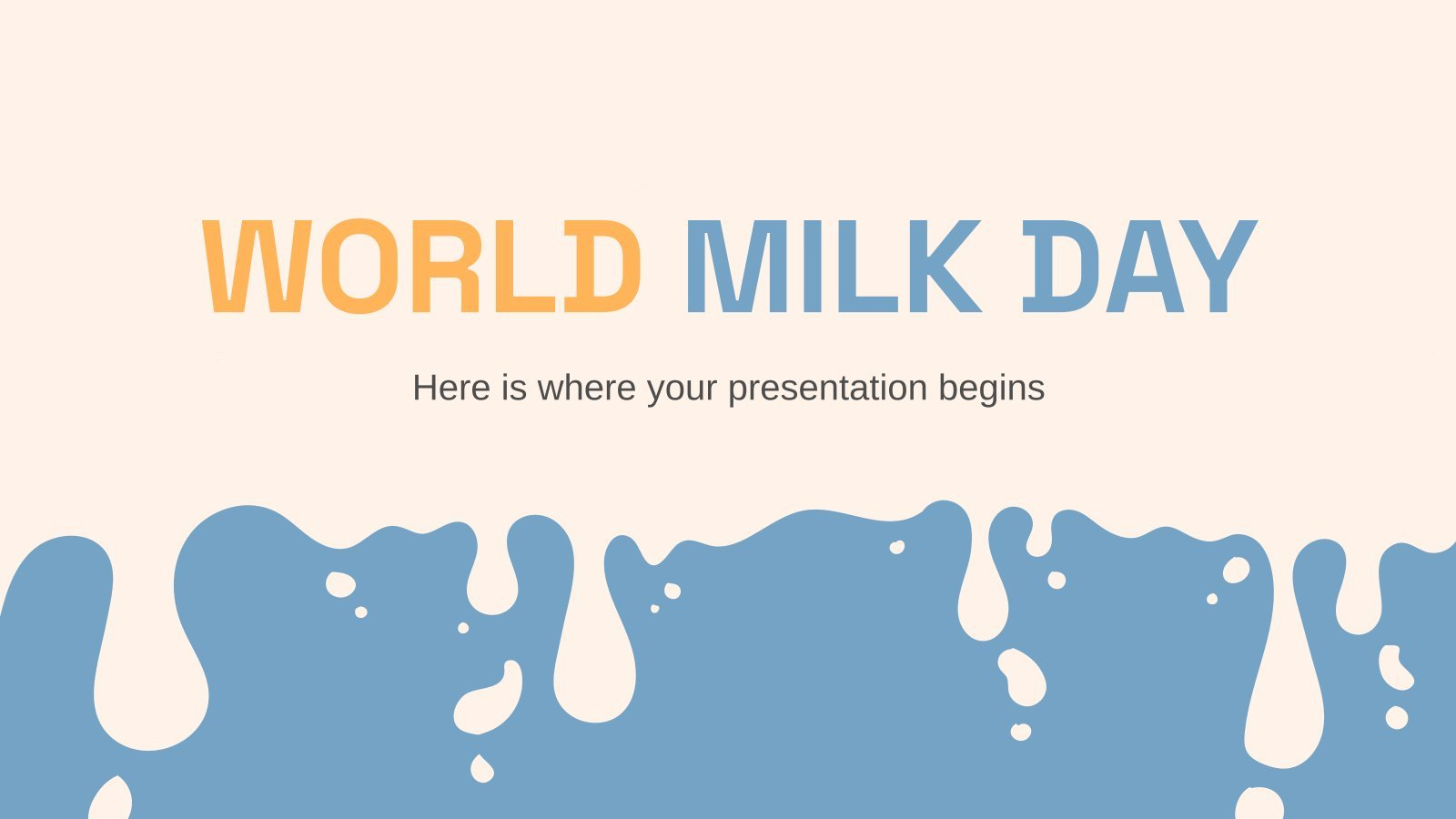 World Milk Day presentation template