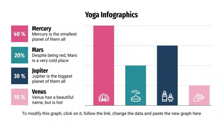 Plantilla de presentación Infografías de yoga