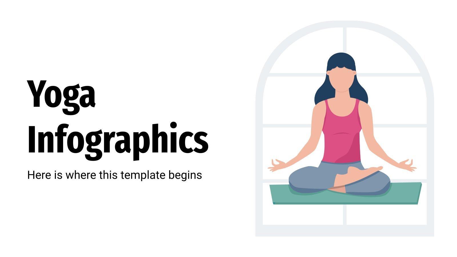 Modelo de apresentação Infográficos da ioga