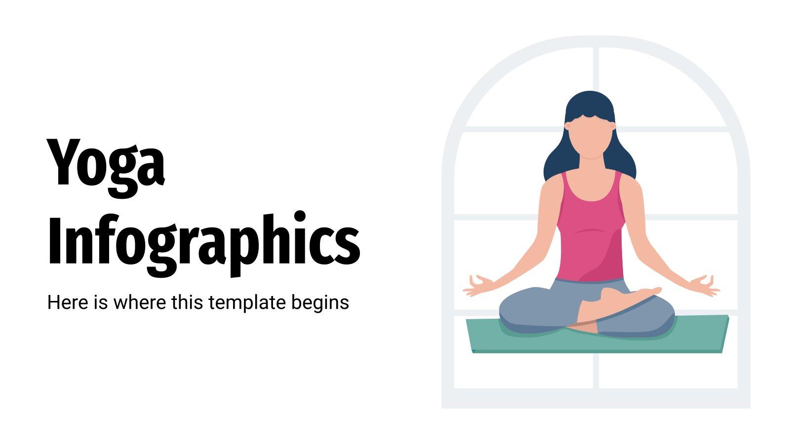 Yoga Infographics presentation template