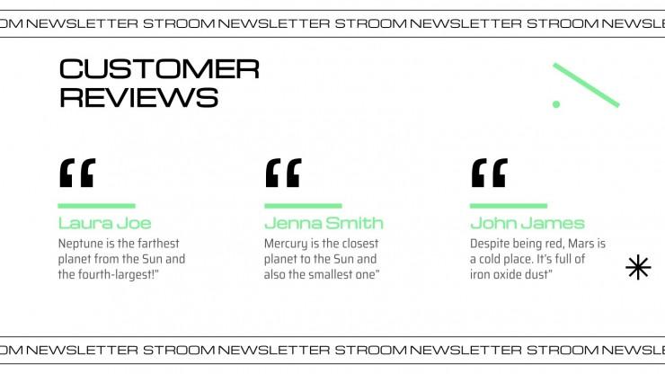 Bulletin d'information Stroom : Modèles de présentation