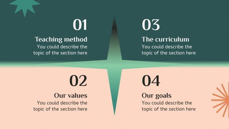 Skill School Centers presentation template