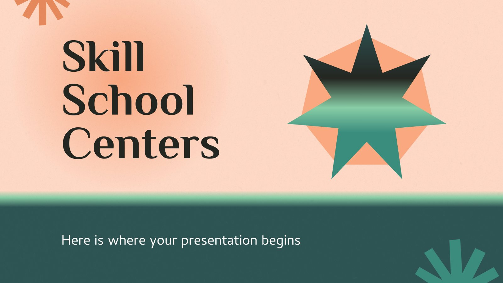 Skill School Centers presentation template