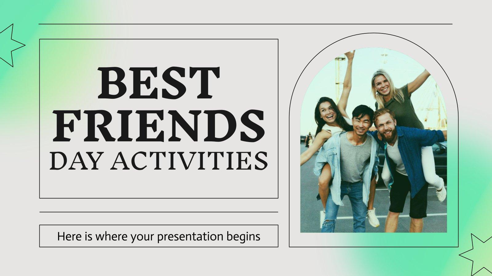 Modelo de apresentação Atividades do Dia dos Melhores Amigos