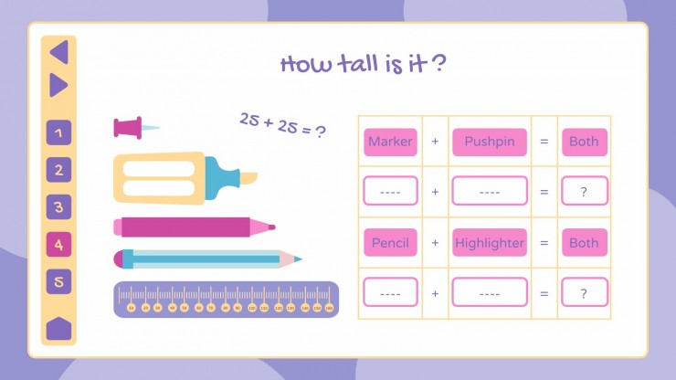 Maths for Elementary 2nd Grade - Measurement and Data presentation template