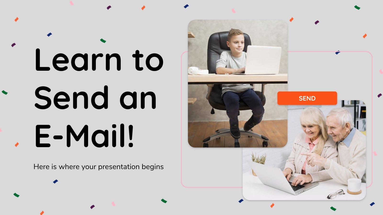 Plantilla de presentación Aprende a enviar un email