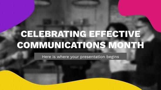 Celebrating Effective Communications Month presentation template