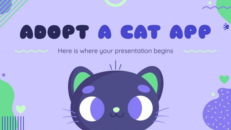 Application pour adopter un chat : Modèles de présentation