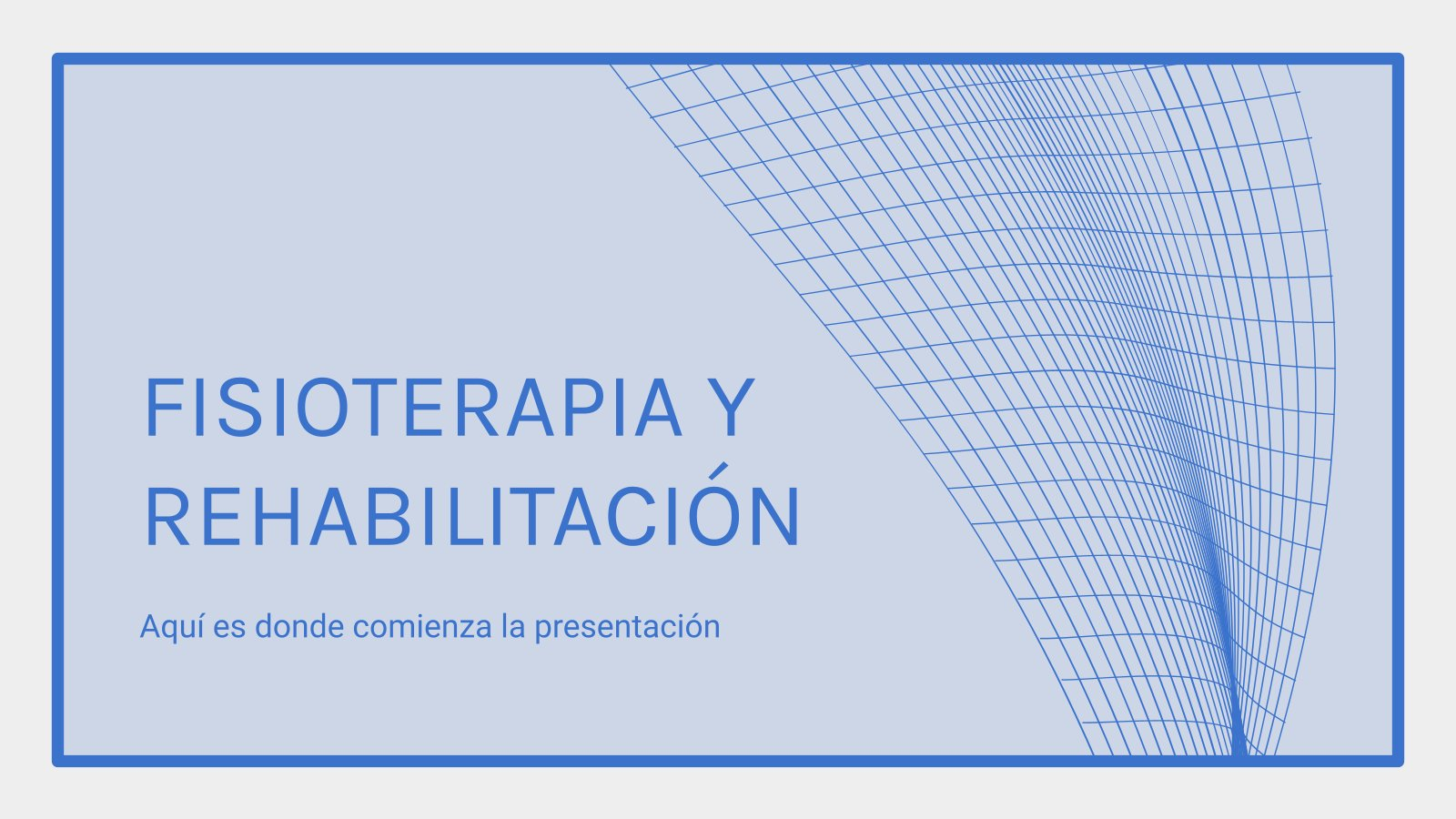 Plantilla de presentación Fisioterapia y rehabilitación