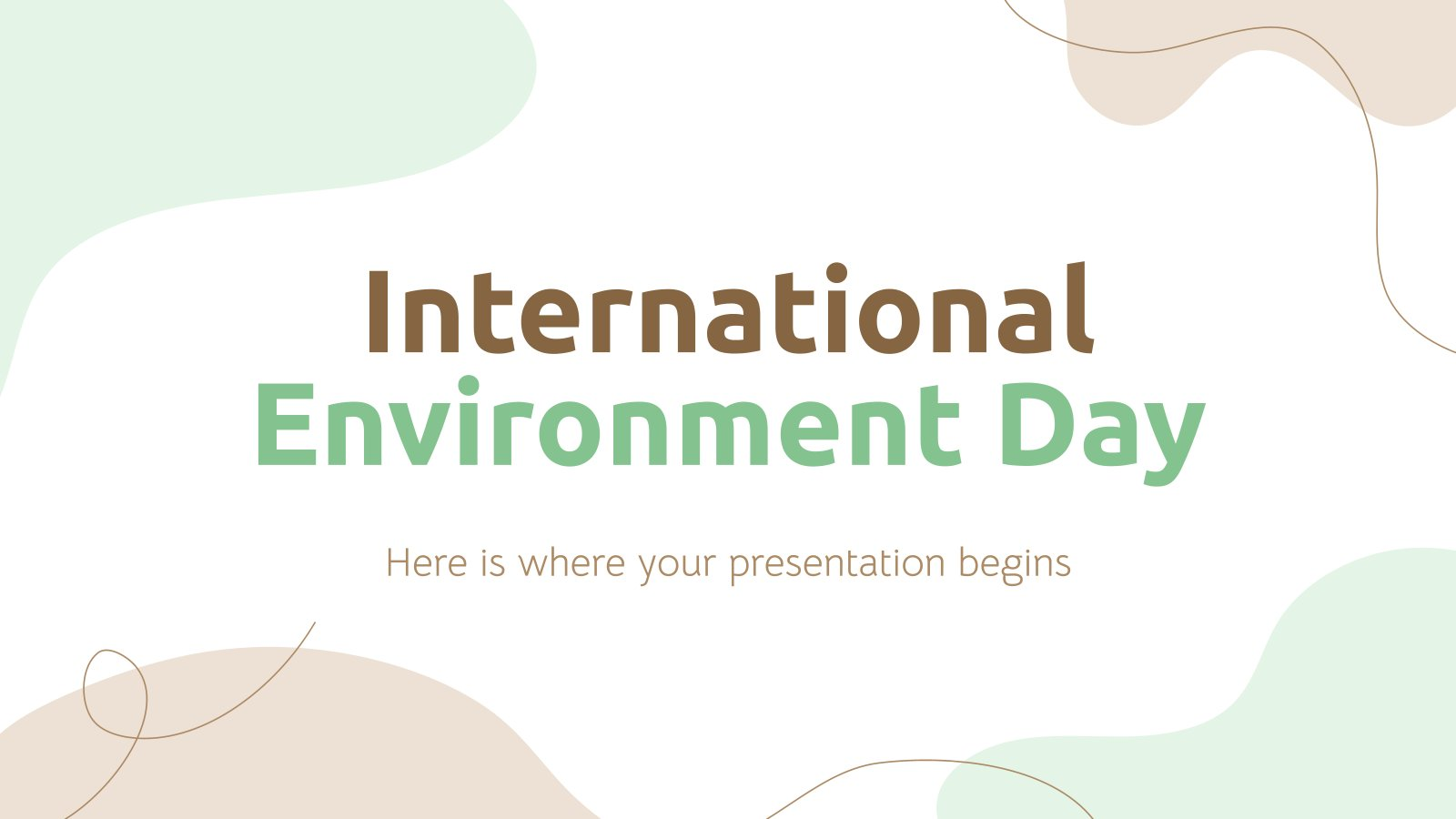 International Environment Day presentation template
